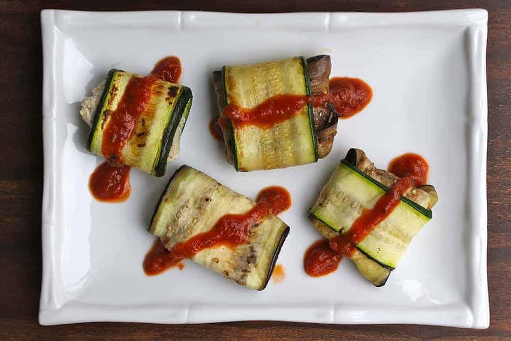 Lasagna Rolls (Vegan and Paleo)
