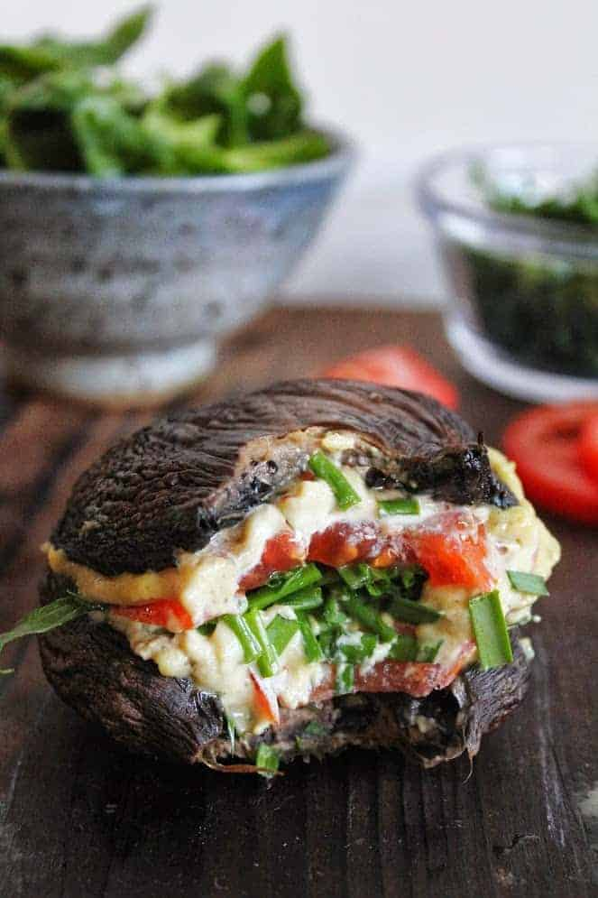 Portobello Mushroom Cashew Cheese Burger
