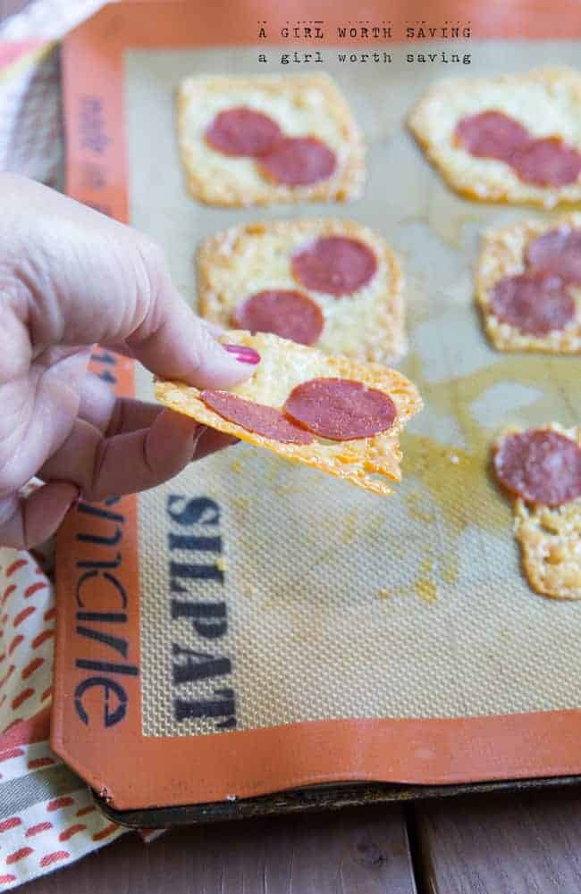 Low Carb Pizza Crackers