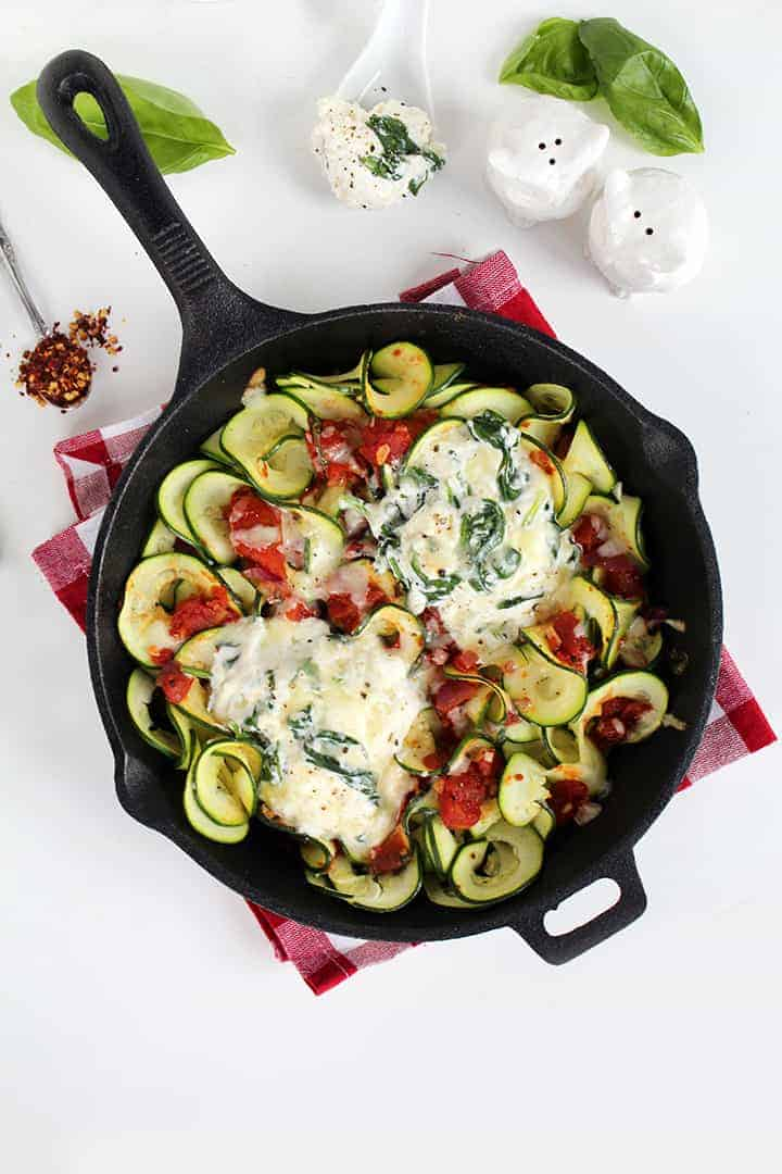 Deconstructed Manicotti Skillet with Zucchini Noodles