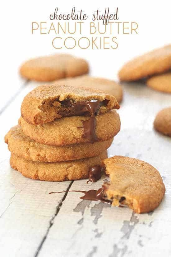 Chocolate-Stuffed Peanut Butter Cookies
