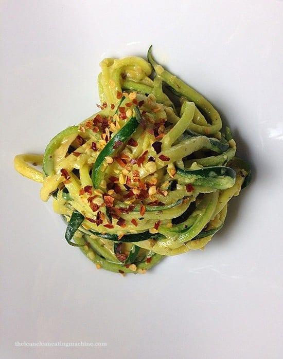 Creamy Garlic Zucchini Noodles