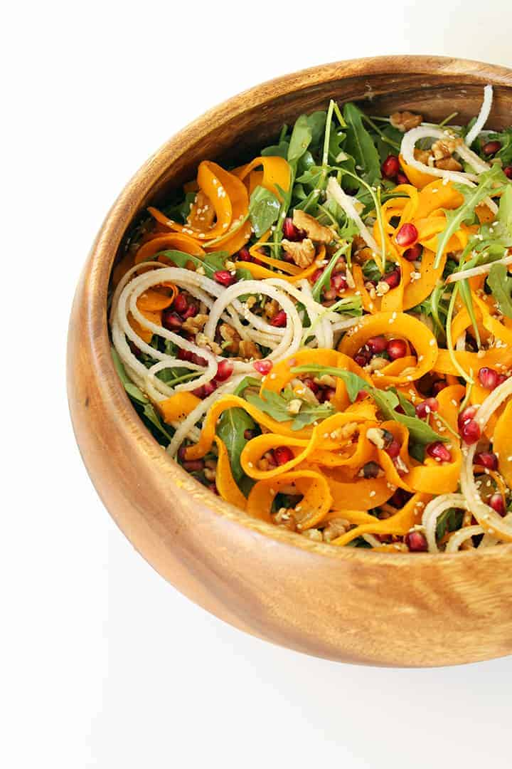 Pear Pomegranate and Roasted Butternut Squash Salad
