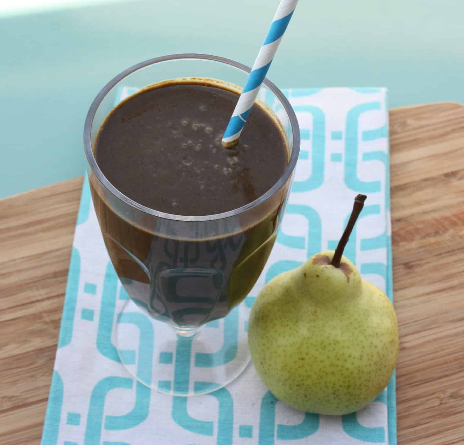 Chocolate Pear Protein Smoothie