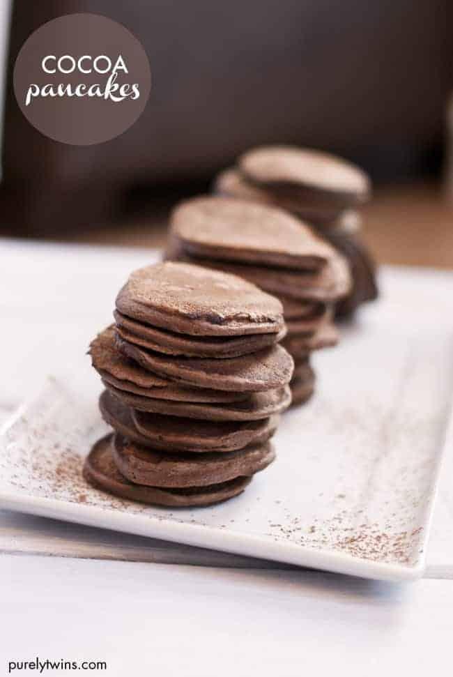Four Ingredient Paleo Cocoa Pancakes