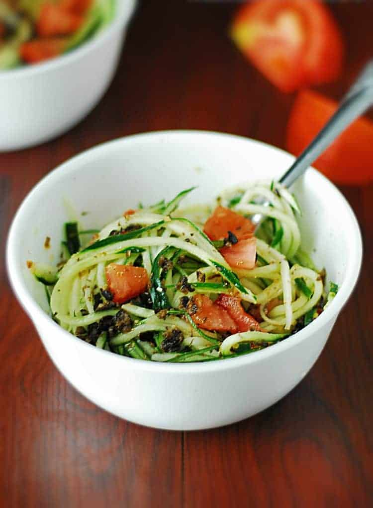 Low Carb Cucumber Pasta Salad