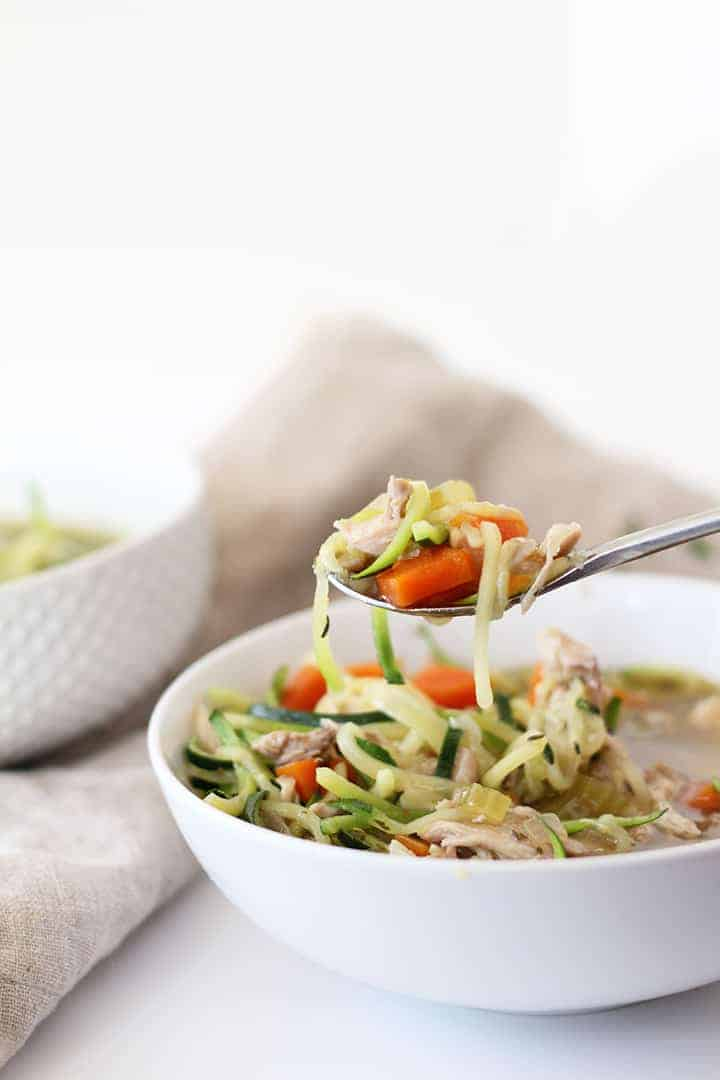 The Best Chicken Zucchini Noodle Soup Ever