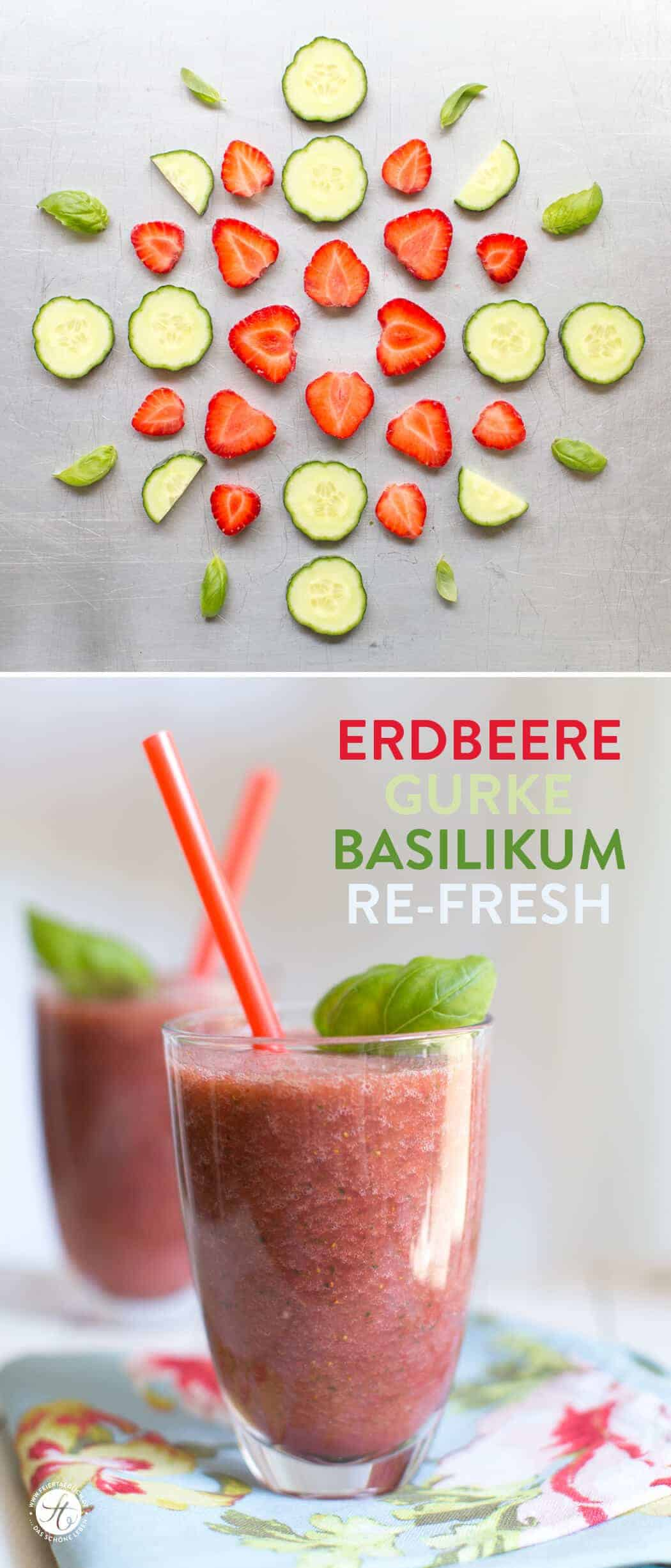 Strawberry and Cucumber Smoothie