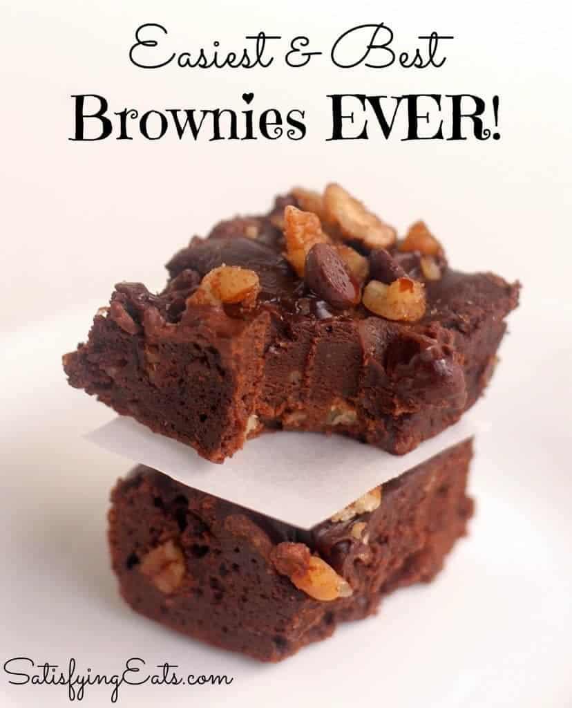 Easiest and Best Brownies Ever