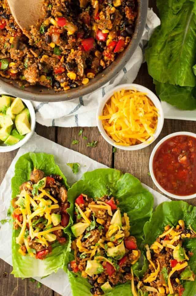 Taco Vegetarian Lettuce Wraps<