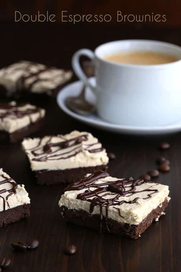 Low Carb Double Espresso Brownies