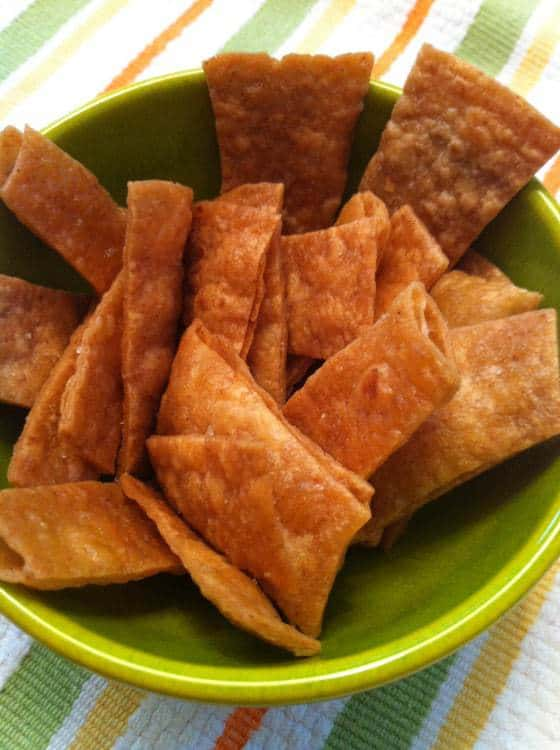 Tortilla Chips With Hummus