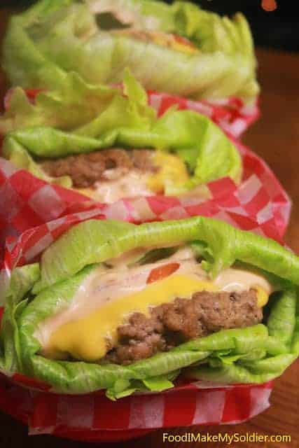 Lettuce Wrapped Cheeseburgers