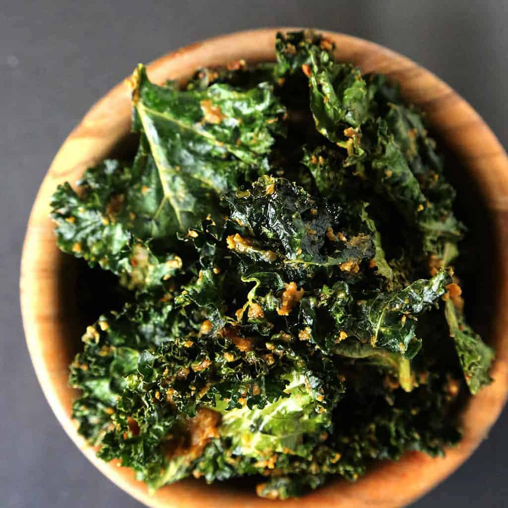 Cheese Kale Chips