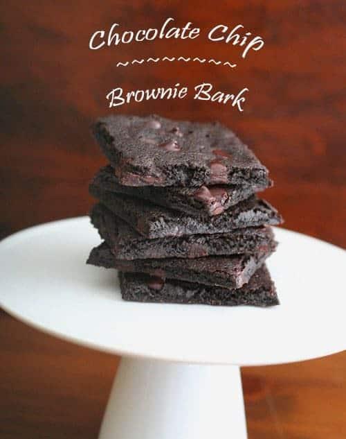 Chocolate Chip Brownie Bark