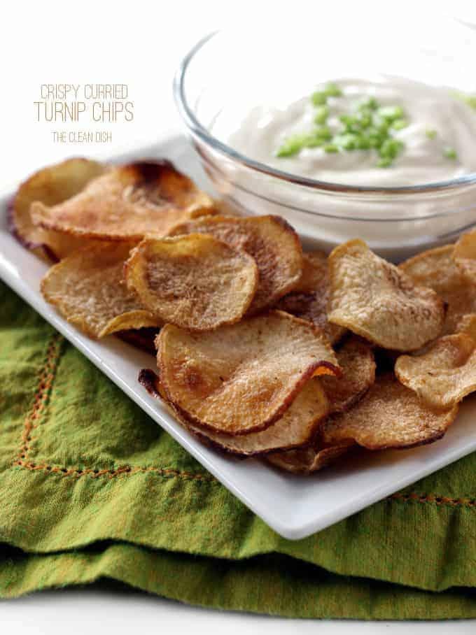Crispy Curried Turnip Chips