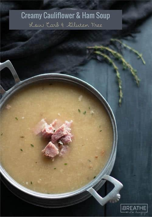 Creamy Cauliflower & Ham Soup