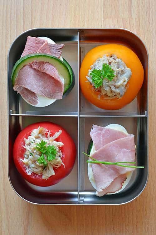 Simple Crab Salad Stuffed Tomatoes