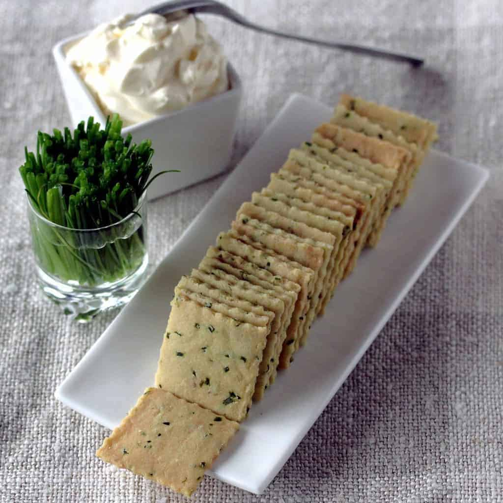 Egg-Free Sour Cream and Chive Crackers