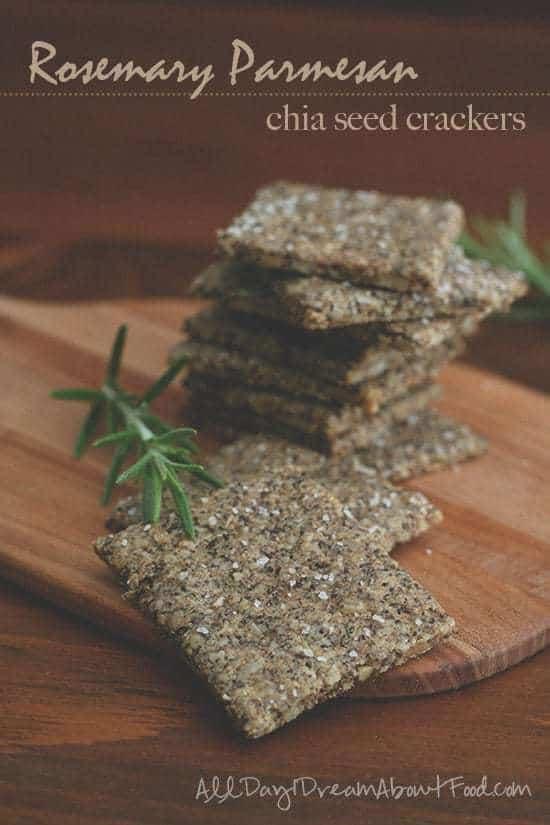 Grain-Free Rosemary Parmesan Chia Seed Crackers