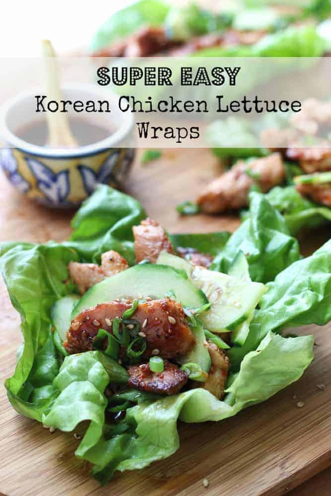 Super Easy Korean Chicken Lettuce Wraps