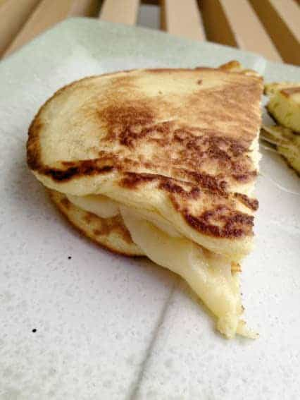 Fancy Grilled Cheese on Coconut Flour Flatbread