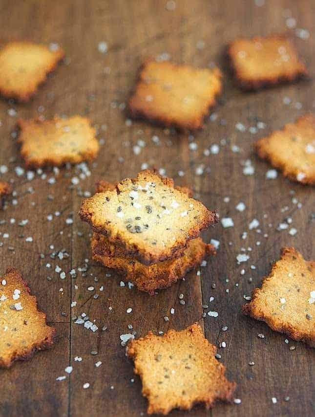 Cheesy Chia Seed Crackers