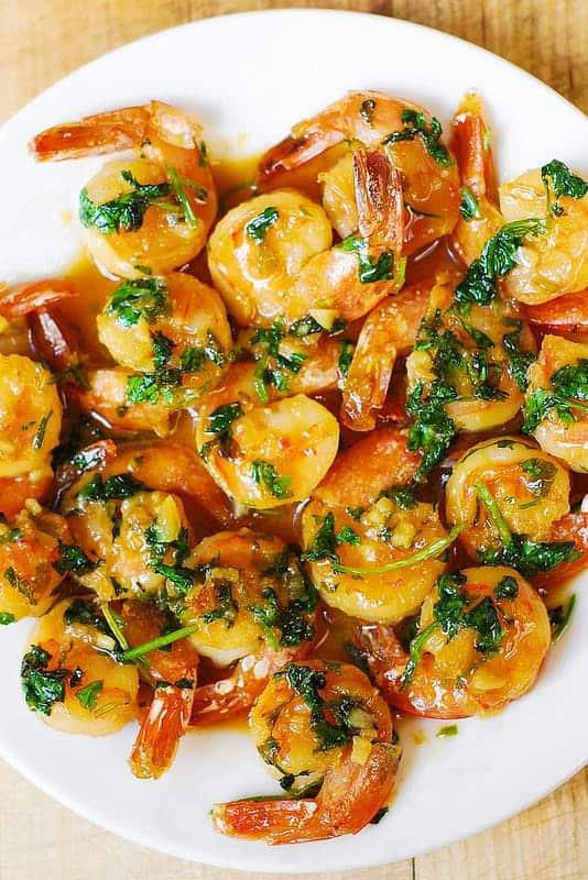 Cilantro Lime Honey Garlic Shrimp