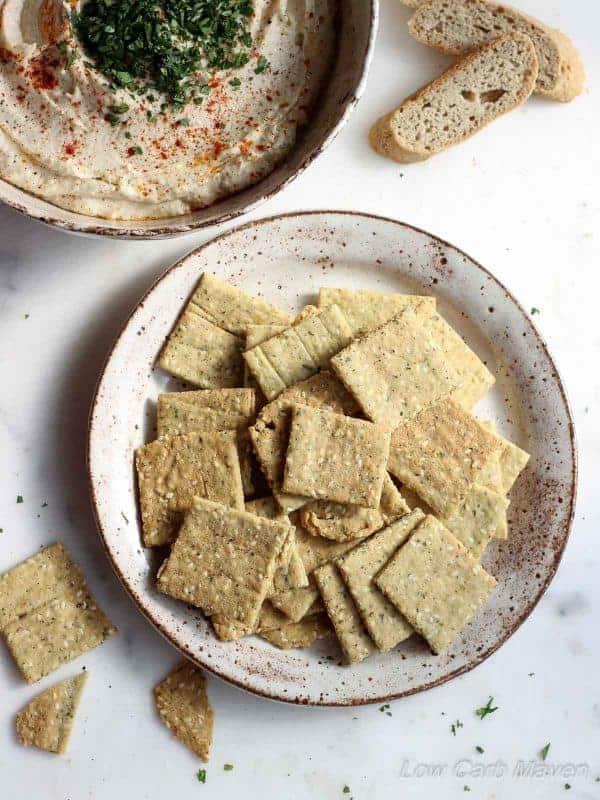Crispy Almond Sesame Crackers