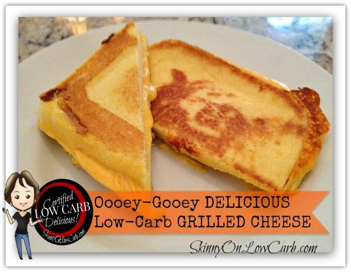 Ooey-Gooey Delicious Low-Carb Grilled Cheese