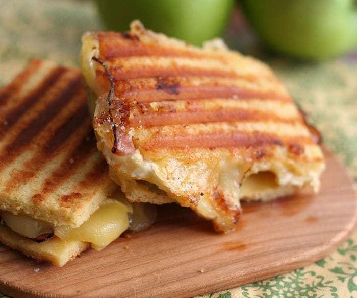 Brie, Ham and Green Apple Panini