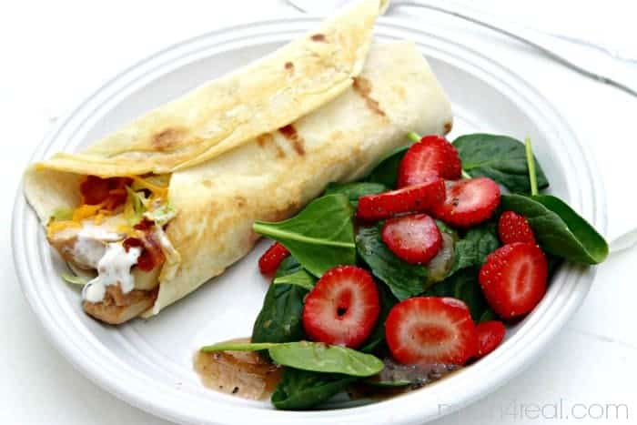 Easy Low Carb Grilled Chicken Wrap
