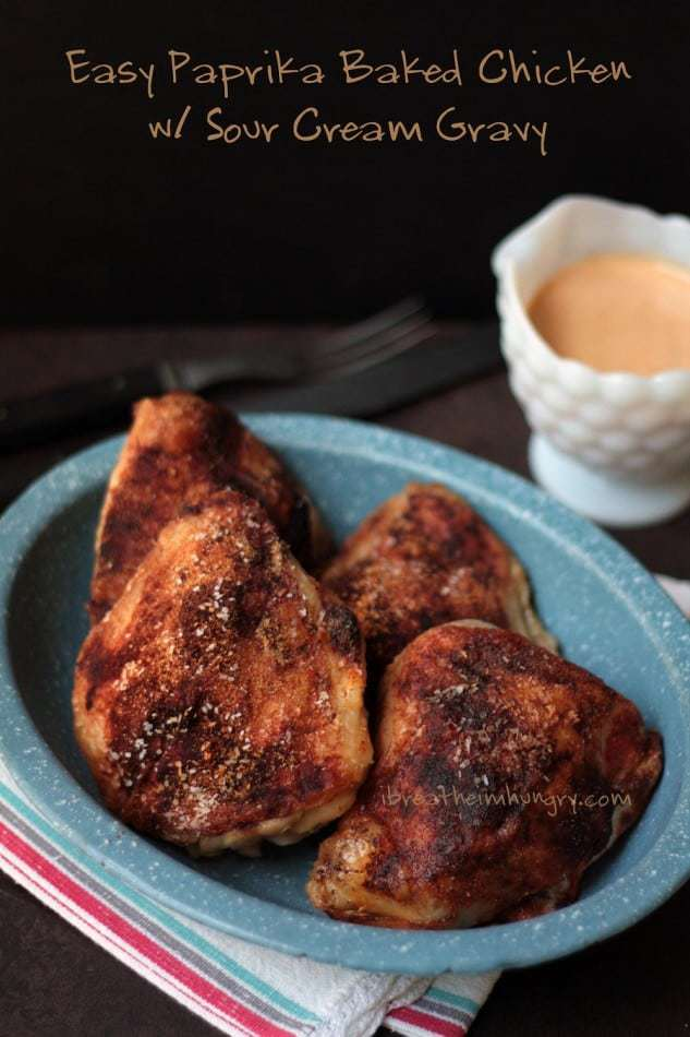 Chicken Paprika With Sour Cream Gravy