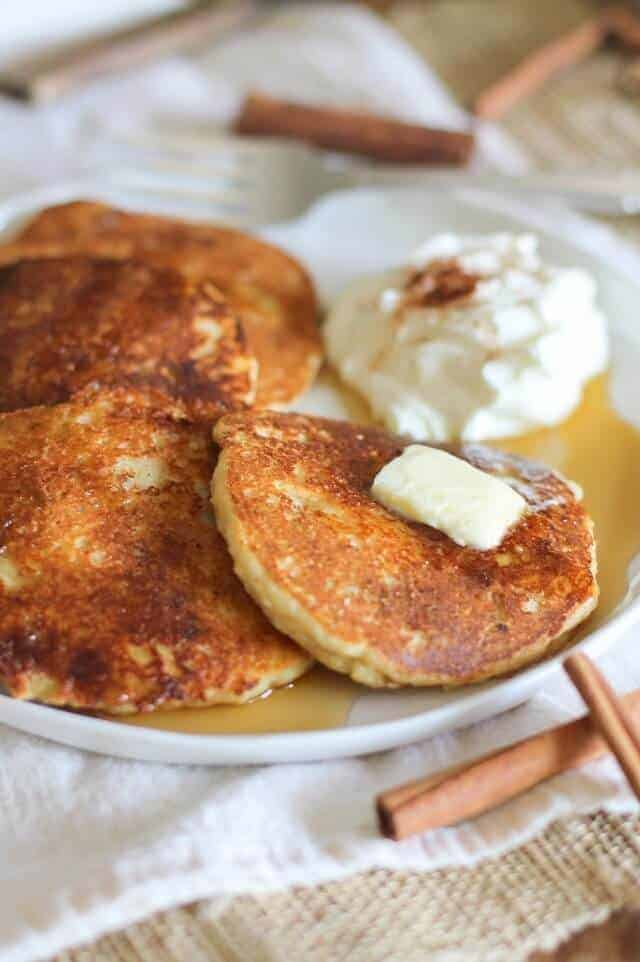 Crispy Cinnamon Swirl Paleo Pancake