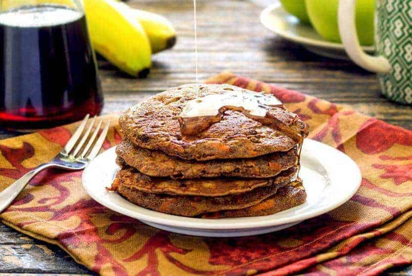 Paleo Banana Carrot Pancakes
