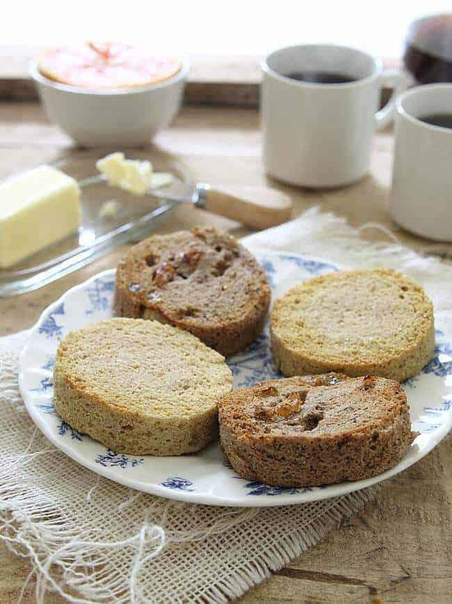 Two Minute Paleo English Muffins