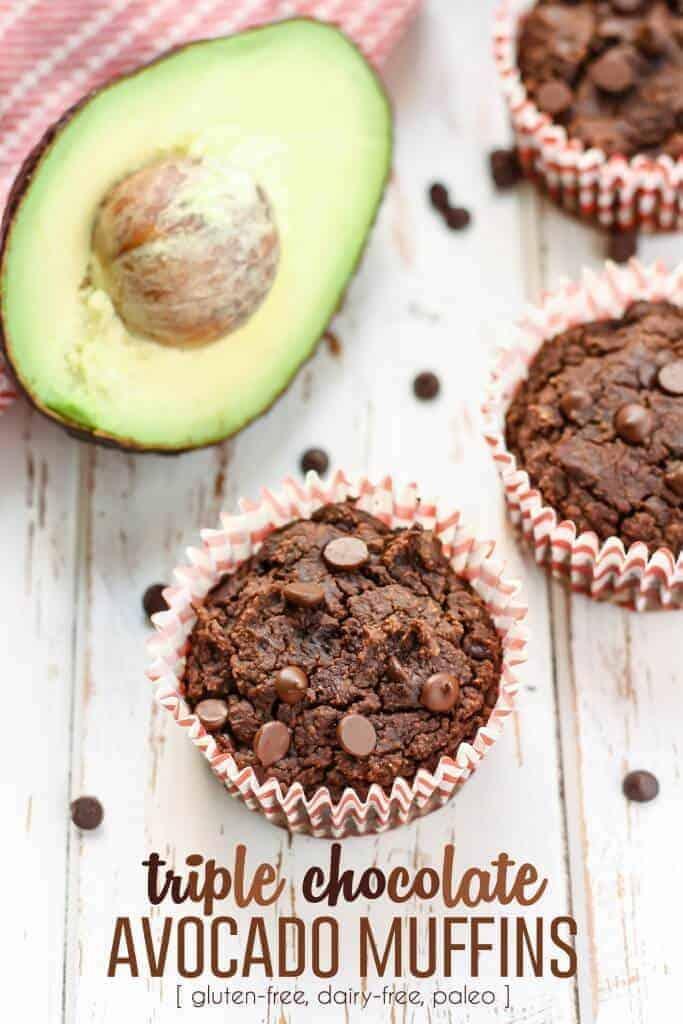 Triple Chocolate Avocado Muffins