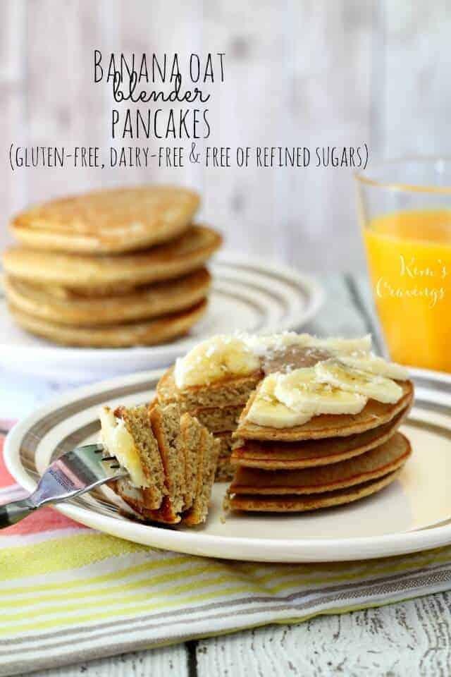 Banana Oat Blender Pancakes