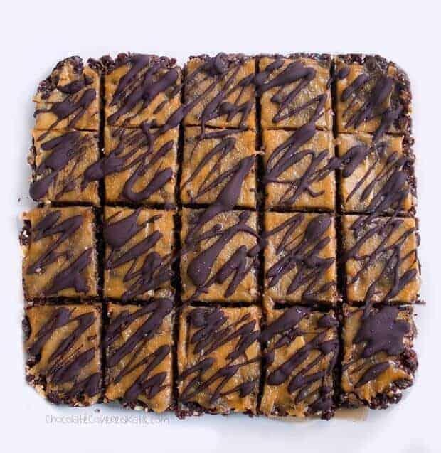 No-Bake Chocolate Peanut Butter Brownie Bars