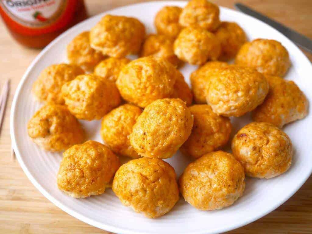 Healthy Buffalo Turkey Meatballs