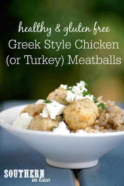 Healthy Greek Style Chicken (Or Turkey) Baked Meatballs