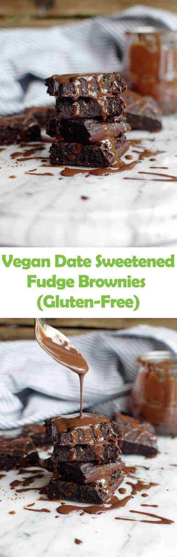Vegan Date Sweetened Fudge Brownies