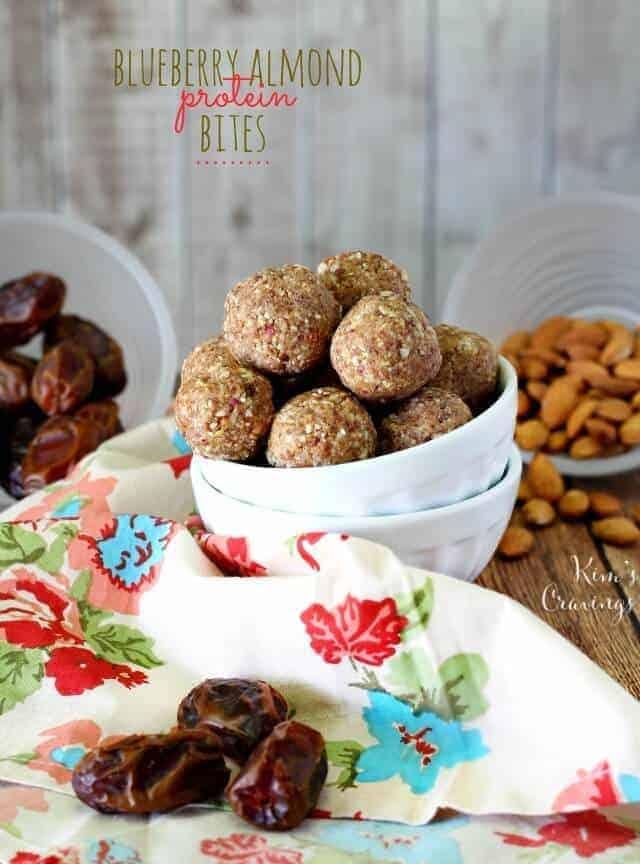 Blueberry Almond Protein Bites