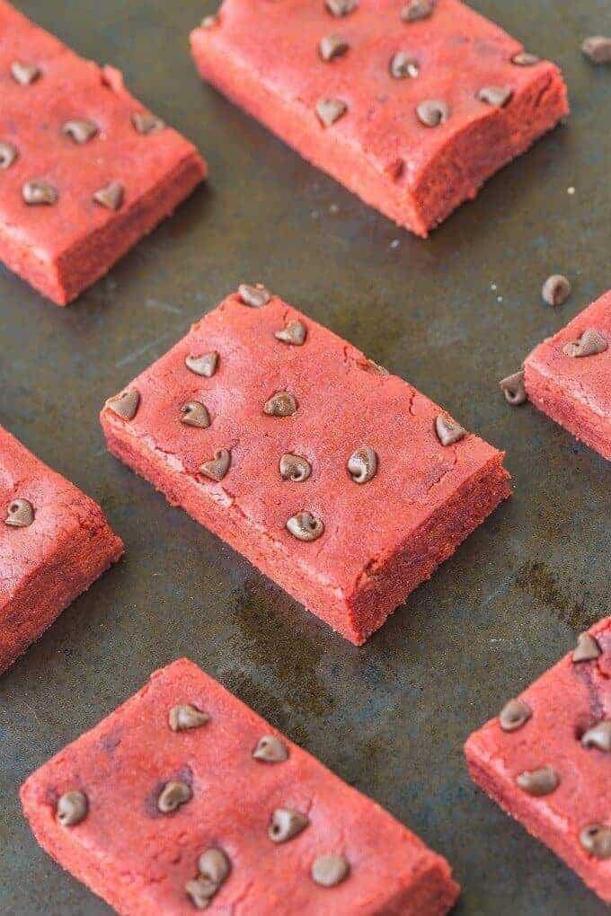 No Bake Red Velvet Protein Bars