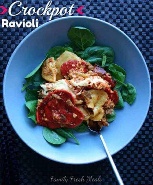 Crock Pot Ravioli Lasagna