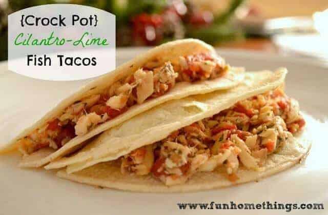 Paleo Crock Pot Cilantro-Lime Fish Tacos