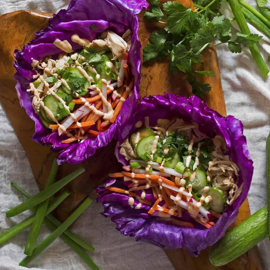 Paleo Banh Mi Chicken Tacos (Slow Cooker)
