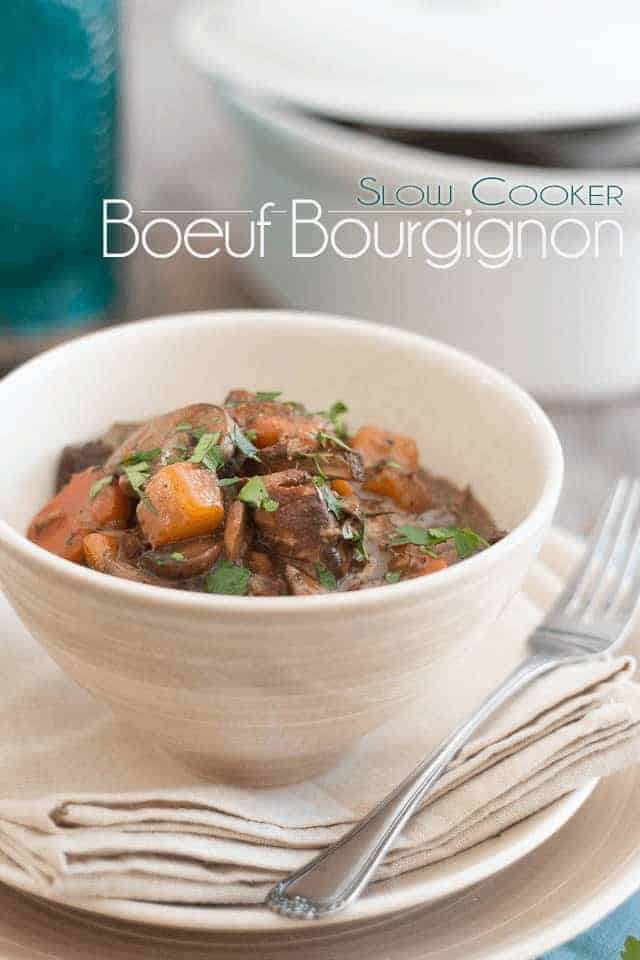 Paleo Slow Cooker Squeaky Clean Beef Bourgignon