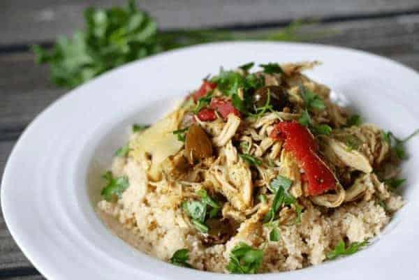 Paleo Crock Pot Mediterranean Chicken