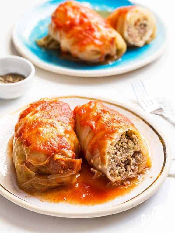 Paleo Slow Cooker Cabbage Rolls